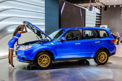 MOSCOW, RUSSIA - AUG 2012: SUBARU FORESTER 4TH GENERATION presen Royalty Free Stock Image