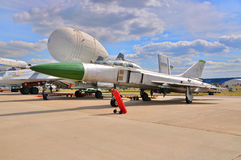 MOSCOW, RUSSIA - AUG 2015: supersonic interceptor Su-15 Flagon p Royalty Free Stock Image