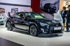 MOSCOW, RUSSIA - AUG 2012: TOYOTA GT86 presented as world premie Stock Photos