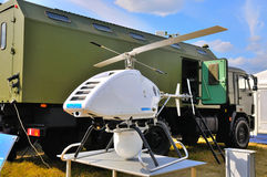 MOSCOW, RUSSIA - AUG 2015: UAV Mobile radar system presented at Stock Photography