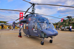 MOSCOW, RUSSIA - AUG 2015: utility helicopter Ka-226 Hoodlum pre Royalty Free Stock Image