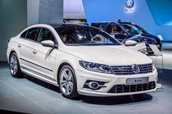MOSCOW, RUSSIA - AUG 2012: VOLKSWAGEN PASSAT CC presented as world premiere at the 16th MIAS Moscow International Automobile Salon Royalty Free Stock Image