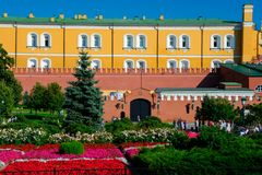 Colorful flowers in Alexander Garden stock images