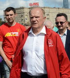 Communist Party leader Gennady Zyuganov at the press festival in Moscow. Stock Photo