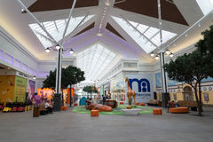 Moscow, Russia - August 30.2016. Games area for children in interior of the shopping center Zelenopark. Moscow, Russia - August 30.2016. Games area for children Stock Photos