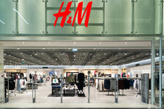 Moscow, Russia - August 30.2016. H and M store in mall Zelenopark. Moscow, Russia - August 30.2016. H and M store in a mall Zelenopark Royalty Free Stock Photography
