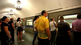MOSCOW, RUSSIA, 13 AUGUST 2014, Daily life Moscow stock video footage
