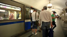 MOSCOW, RUSSIA, 13 AUGUST 2014, Daily life Moscow stock footage