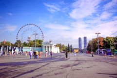 MOSCOW, RUSSIA 8 AUGUST 2014, main entrance Royalty Free Stock Photo