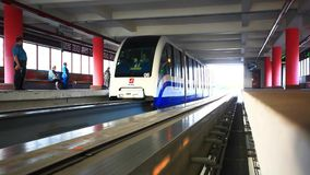 MOSCOW, RUSSIA, 8 AUGUST, 2014. Monorail fast stock video footage