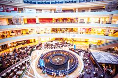 MOSCOW, RUSSIA, 9 AUGUST, 2014. Shopping complex Royalty Free Stock Images