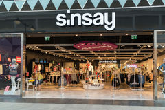 Moscow, Russia - August 30.2016. Sinsay store in mall Zelenopark. Moscow, Russia - August 30.2016. Sinsay store in a mall Zelenopark Stock Image