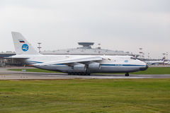 Moscow, Russia - August 2013  Soviet cargo plane Antonov An124 Royalty Free Stock Photography