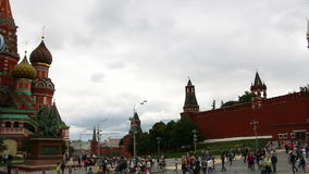 Moscow, Russia. August 16, 2015: St. Basil Cathedral, Red Square, Moscow stock footage