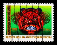 Cancer symbolism, Fight Against Cancer serie, circa 1976. MOSCOW, RUSSIA - AUGUST 18, 2018: A stamp printed in Austria shows Cancer symbolism, Fight Against royalty free stock photos