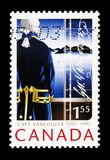 Captain George Vancouver, 250th Anniversary of Captain George Vancouver serie, circa 2007. MOSCOW, RUSSIA - AUGUST 18, 2018: A stamp printed in Canada shows royalty free stock photos
