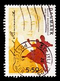 August Bournonville, Personalities serie, circa 2005. MOSCOW, RUSSIA - AUGUST 18, 2018: A stamp printed in Denmark shows August Bournonville, Personalities serie stock images