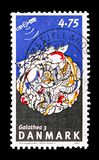 Galathea 3, Galathea 3 Scientific Expedition serie, circa 2007. MOSCOW, RUSSIA - AUGUST 18, 2018: A stamp printed in Denmark shows Galathea 3, Galathea 3 royalty free stock photography