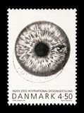 Index: 2005, Design serie, circa 2005. MOSCOW, RUSSIA - AUGUST 18, 2018: A stamp printed in Denmark shows Index: 2005, Design serie, circa 2005 stock photography