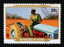 30th Anniversary of Democratic Party of Guinea, serie, circa 1977. MOSCOW, RUSSIA - AUGUST 29, 2017: A stamp printed in Guinea shows 30th Anniversary of royalty free stock photos