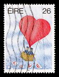 LOVE, Greetings Stamps 1st series serie, circa 1990. MOSCOW, RUSSIA - AUGUST 18, 2018: A stamp printed in Ireland shows LOVE, Greetings Stamps 1st series serie royalty free stock images