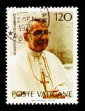 Pope Johannes Paulus I, serie, circa 1978. MOSCOW, RUSSIA - AUGUST 18, 2018: A stamp printed in shows Pope Johannes Paulus I, serie, circa 1978 stock images