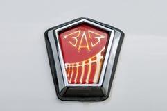 Trademark, avto zaz logo on the retro Soviet car Royalty Free Stock Photography