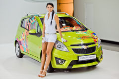 MOSCOW, RUSSIA -  Chevrolet Spark  Smeiliner Stock Photos