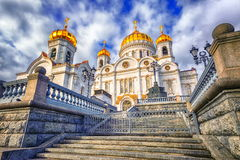 Moscow, Russia. Christian orthodox cathedral of Jesus the Saviour in Moscow, Russia stock images