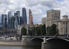 Moscow Russia City Center View Royalty Free Stock Image