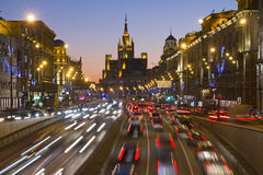 Moscow Russia. City View at Night stock images
