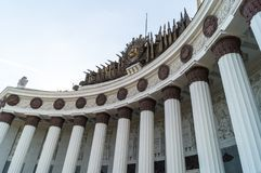 Colonnade of the exhibition of achievements of national economy. Moscow Russia colonnade of the exhibition of achievements of national economy Royalty Free Stock Image