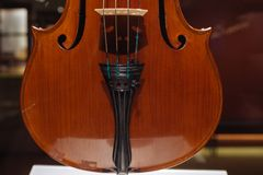 Violin, Luigi Digiuni, Cremona, Italy, 1933. Moscow, Russia - Dec 13, 2017:  The Glinka National Museum - Violin Luigi Digiuni Cremona Italy 1933 Stock Photography