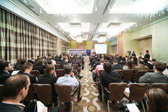IX Annual Conference of leasing in Swissotel Stock Photos