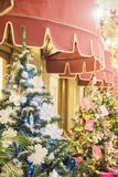MOSCOW, RUSSIA - DECEMBER 06, 2017:Christmas tree background and Christmas decor. royalty free stock photos
