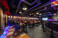 MOSCOW/RUSSIA - DECEMBER 2014. Interior modern cafe-club Royalty Free Stock Images