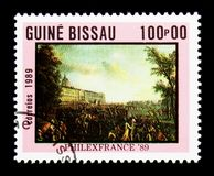 Armed Mob, Stamp Exhibition Philexfrance serie, circa 1989 Stock Photo