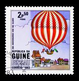 Balloon, 200th Anniversary of Aviation serie, circa 1983 Stock Images