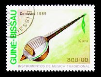 Kora, Traditional Music Instruments serie, circa 1980 Royalty Free Stock Images