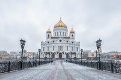 moscow russia domkyrkachrist frälsare Royaltyfri Foto