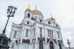 moscow russia domkyrkachrist frälsare Arkivfoton