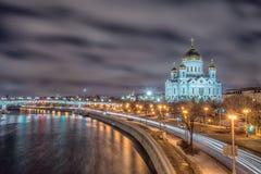 moscow russia domkyrkachrist frälsare Royaltyfria Bilder