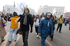 Moscow, Russia - February 4, 2012. Anti-government opposition ra Royalty Free Stock Images