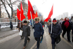 Moscow, Russia - February 4, 2012. Anti-government opposition ra Stock Photo