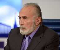 Aslambek Aslakhanov - Russian politician, member of Council of Federation. Deputy Chairman of the Federation Council Committee on Stock Images