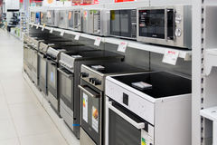 Moscow, Russia - February 02. 2016. cookers  in Eldorado, large chain stores selling electronics Royalty Free Stock Image