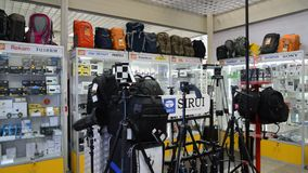 Moscow, Russia - February 18. 2016. The interior of store photographic stock footage