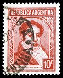 Bernardino Rivadavia (1780-1845), Politician, Famous Argentinians serie, circa 1939. MOSCOW, RUSSIA - FEBRUARY 10, 2019: A stamp printed in Argentina shows royalty free stock photography