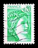 Sabine, serie, circa 1978. MOSCOW, RUSSIA - FEBRUARY 10, 2019: A stamp printed in France shows Sabine, serie, circa 1978 stock images