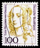 Luise Henriette von Oranien (1627-1667), Elector of Brandenbourg, Women in German History serie, circa 1994. MOSCOW, RUSSIA - FEBRUARY 20, 2019: A stamp printed royalty free stock images